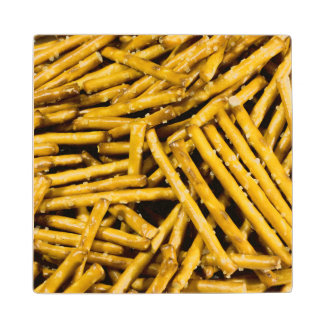 Pretzels Sticks Wood Coaster