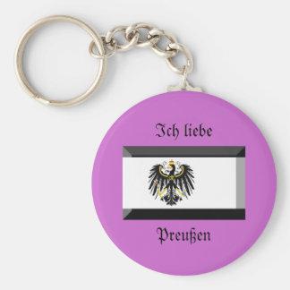 Preussen Flag Gem Key Chain
