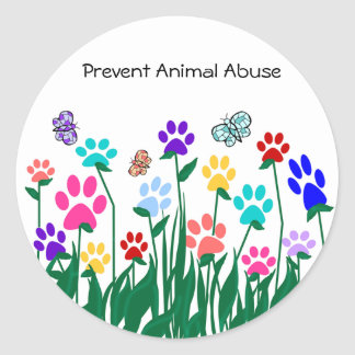 Prevent Animal Abuse Stickers