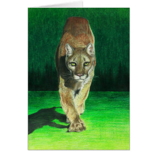 """Prey, Pray"" Cougar Card"