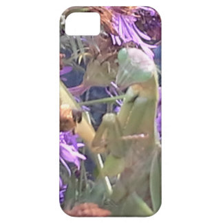 Preying Mantis  & Purple Cone Flowers Barely There iPhone 5 Case
