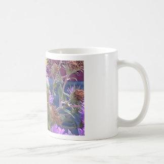 Preying Mantis  & Purple Cone Flowers Coffee Mug