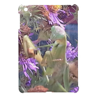 Preying Mantis  & Purple Cone Flowers Cover For The iPad Mini