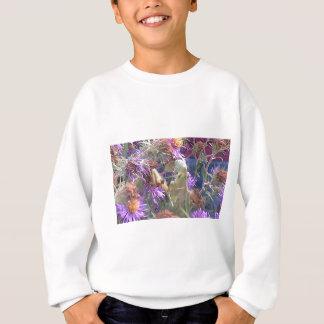 Preying Mantis  & Purple Cone Flowers Sweatshirt