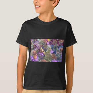 Preying Mantis  & Purple Cone Flowers T-Shirt