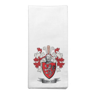 Price Family Crest Coat of Arms Napkin