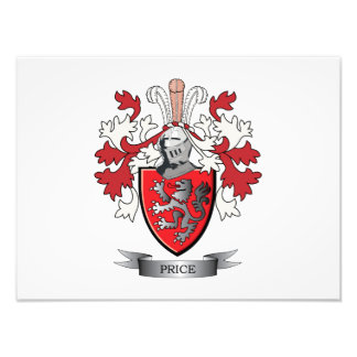 Price Family Crest Coat of Arms Photographic Print