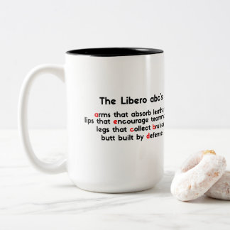 Price for The Best Libero Abc' - Typography Volley Two-Tone Coffee Mug