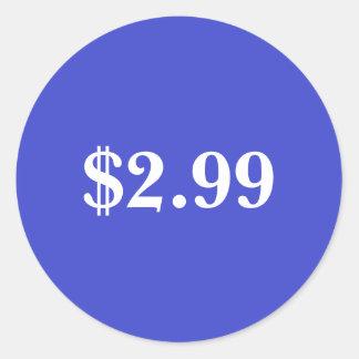 Price Label Round Sticker