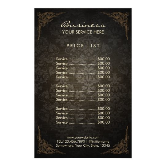 Price list vintage framed damask beauty salon 14 cm x 21 for F salon jaipur price list