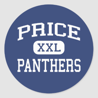 Price Panthers Middle San Jose California Round Sticker