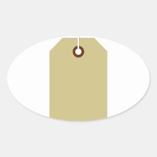 Price Tag Oval Sticker