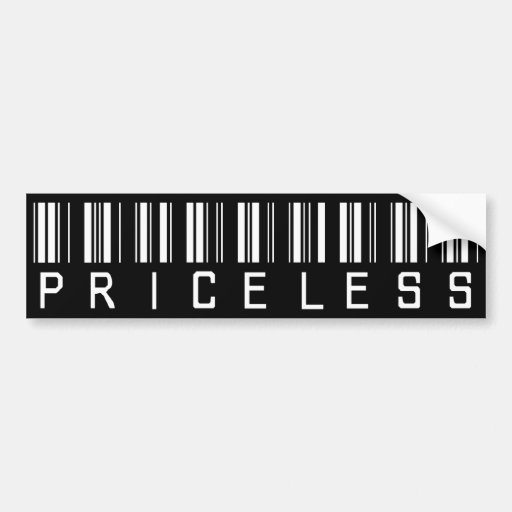 Priceless Barcode Bumper Stickers