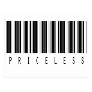 priceless barcode postcard