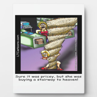Pricey Heavenly Stairway Funny Photo Plaques