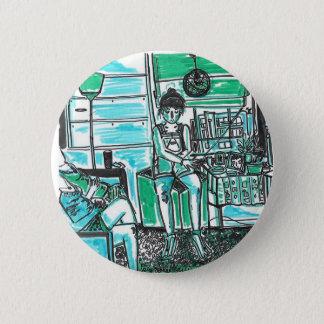 pricilist in the pain 6 cm round badge