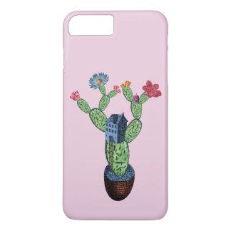 Prickly cactus with flowers iPhone 8 plus/7 plus case