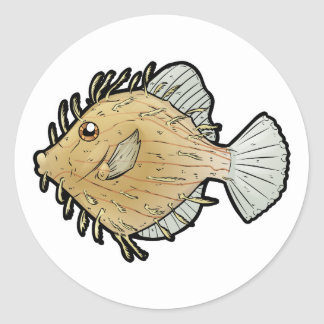 Prickly Leatherjacket Classic Round Sticker