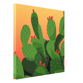 Prickly Pear Arizona Desert Wrapped Canvas