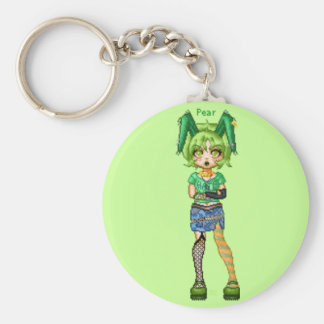 Prickly Pear Basic Round Button Key Ring