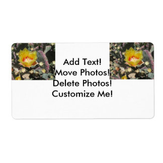 Prickly Pear Black Spined Shipping Label
