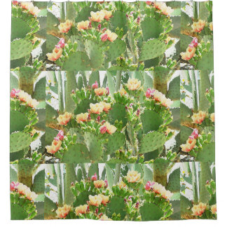 Prickly Pear Blooms Shower Curtain