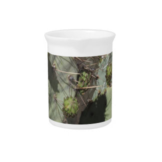 Prickly Pear Buds Beverage Pitcher