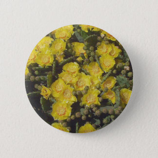 Prickly Pear Cactus 6 Cm Round Badge