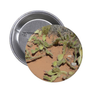 prickly pear cactus pinback button