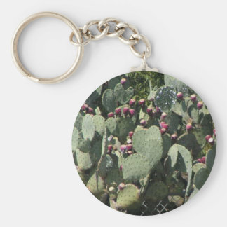 Prickly Pear Cactus Basic Round Button Key Ring