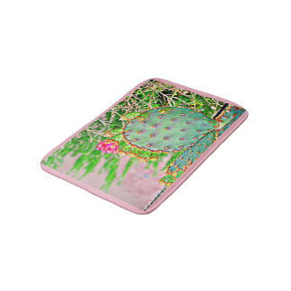 Prickly Pear Cactus Bathroom Mat
