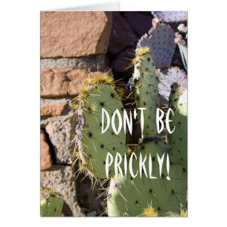 Prickly Pear Cactus Birthday Greeting Card