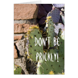 Prickly Pear Cactus Birthday Greeting Card