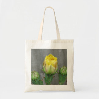 Prickly Pear Cactus Bloom Canvas Bags