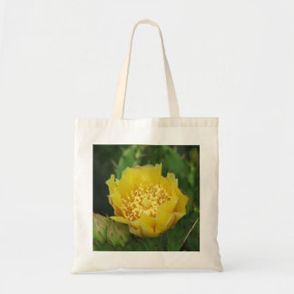 Prickly Pear Cactus Bloom Canvas Bag