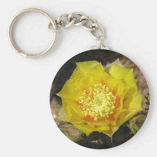 Prickly Pear Cactus Bloom Key Chain