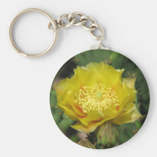 Prickly Pear Cactus Bloom Key Chains