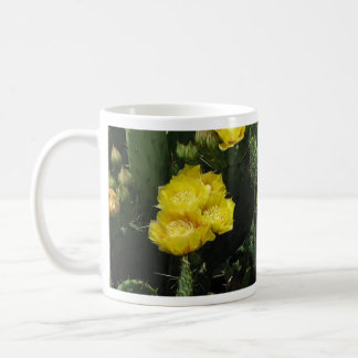 Prickly Pear Cactus Blooms Coffee Mugs