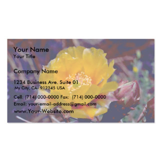 Prickly Pear Cactus Business Card Template
