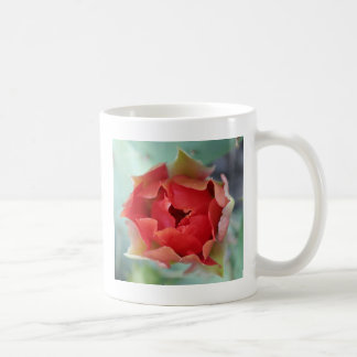 Prickly Pear Cactus Flower Basic White Mug