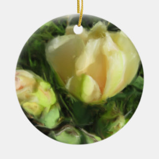 Prickly Pear Cactus Flower Christmas Ornament