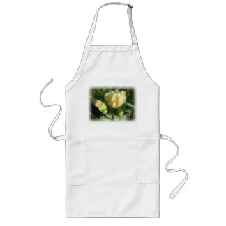 Prickly Pear Cactus Flower Long Apron