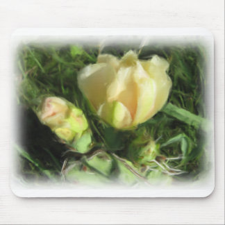 Prickly Pear Cactus Flower Mouse Pad