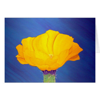 Prickly Pear Cactus Flower Note Card
