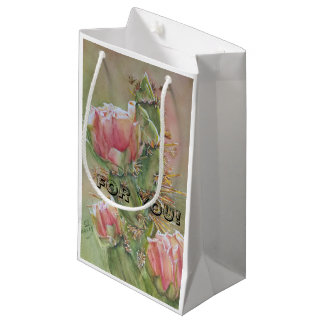 PRICKLY PEAR CACTUS FLOWER SMALL GIFT BAG