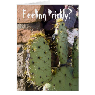Prickly Pear Cactus Get Well Greeting Card