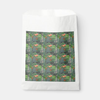 Prickly Pear Cactus Green Red Bloom Favour Bags