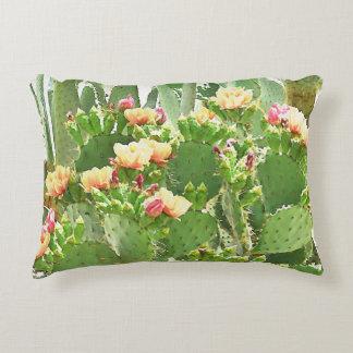 Prickly Pear Cactus in Bloom Custom Pillow