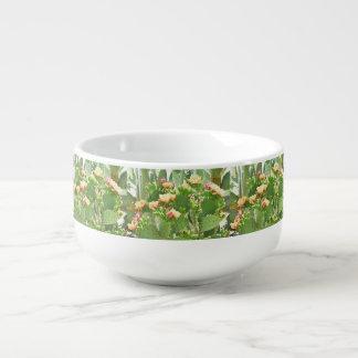 Prickly Pear Cactus in Bloom Soup Mug