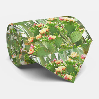 Prickly Pear Cactus In Bloom Tie